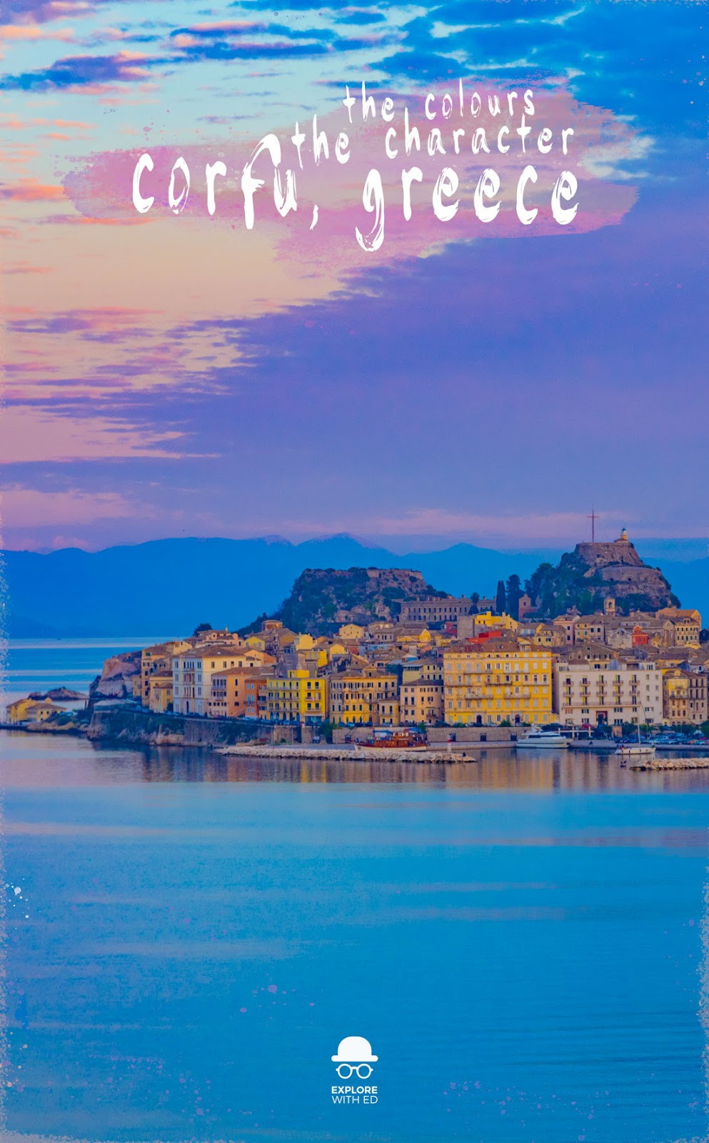 A travel photo series of #corfu, a beautiful Greek Island town bursting with color and character. #traveltips #europe