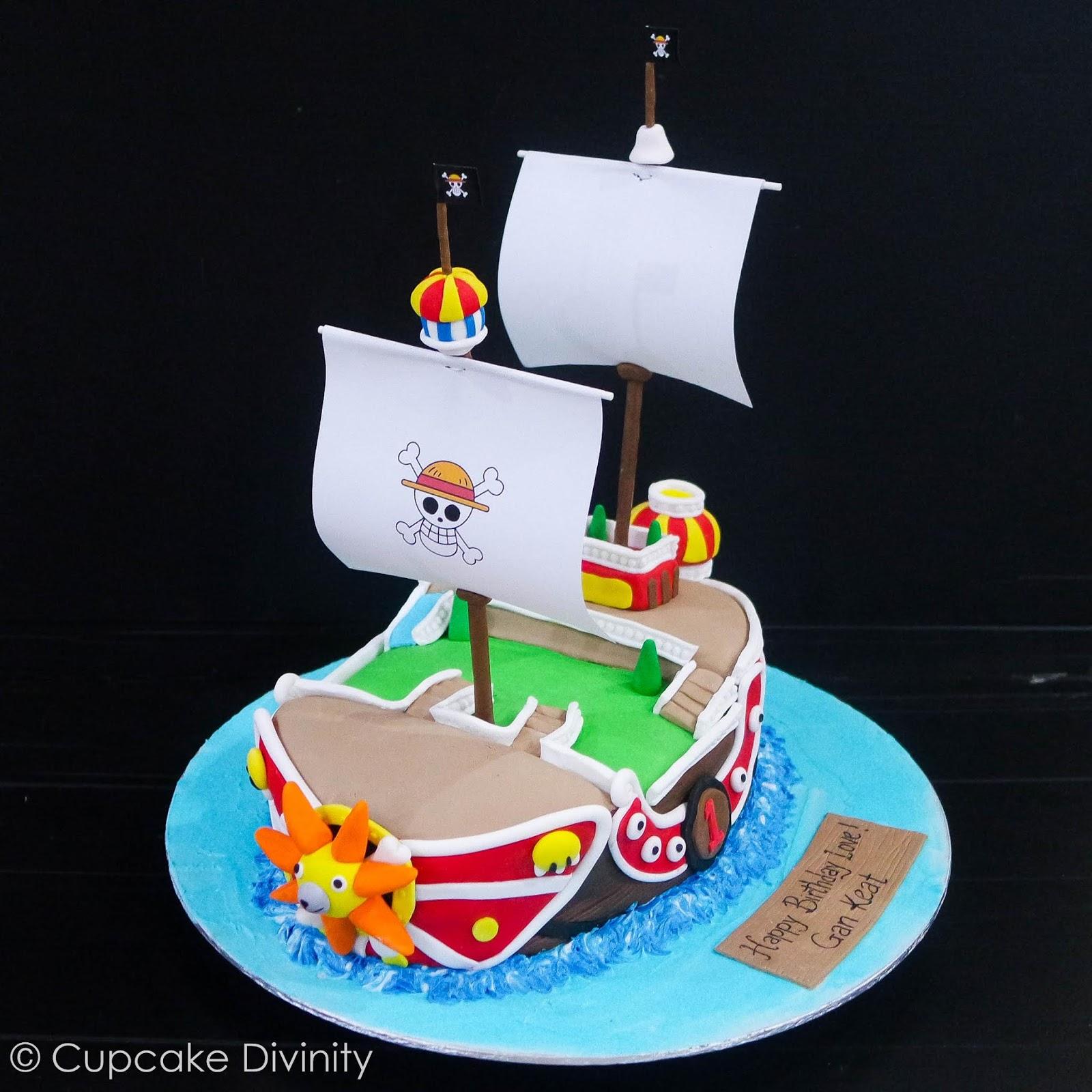 Cupcake Divinity One Piece Ship Cake