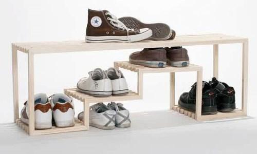 Desain Lemari Sepatu Informa terbuka