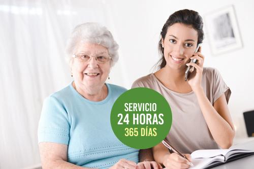 Atención las 24 horas cuidado mayores Granada