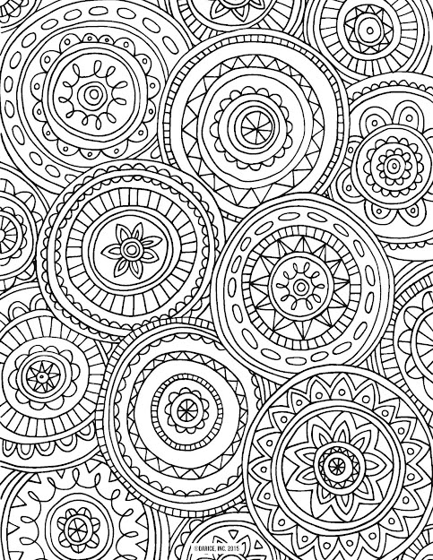 Circled Mandalas Coloring Page