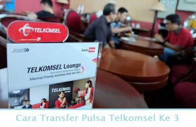 Cara Transfer Pulsa Telkomsel Ke 3 (Termudah.com)
