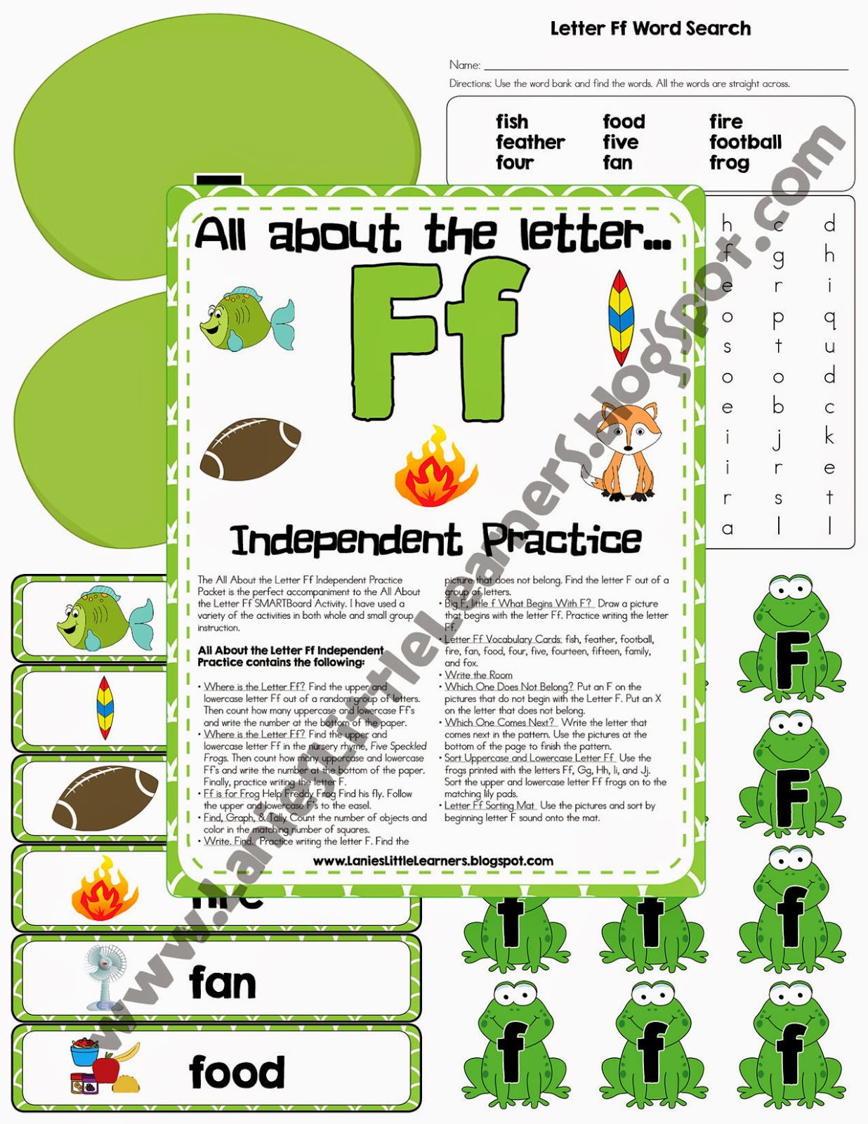Lanie S Little Learners All About The Letter F Independent Practice