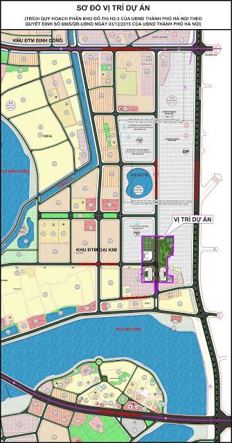 sơ đồ vị trí dự án Eco Lake View