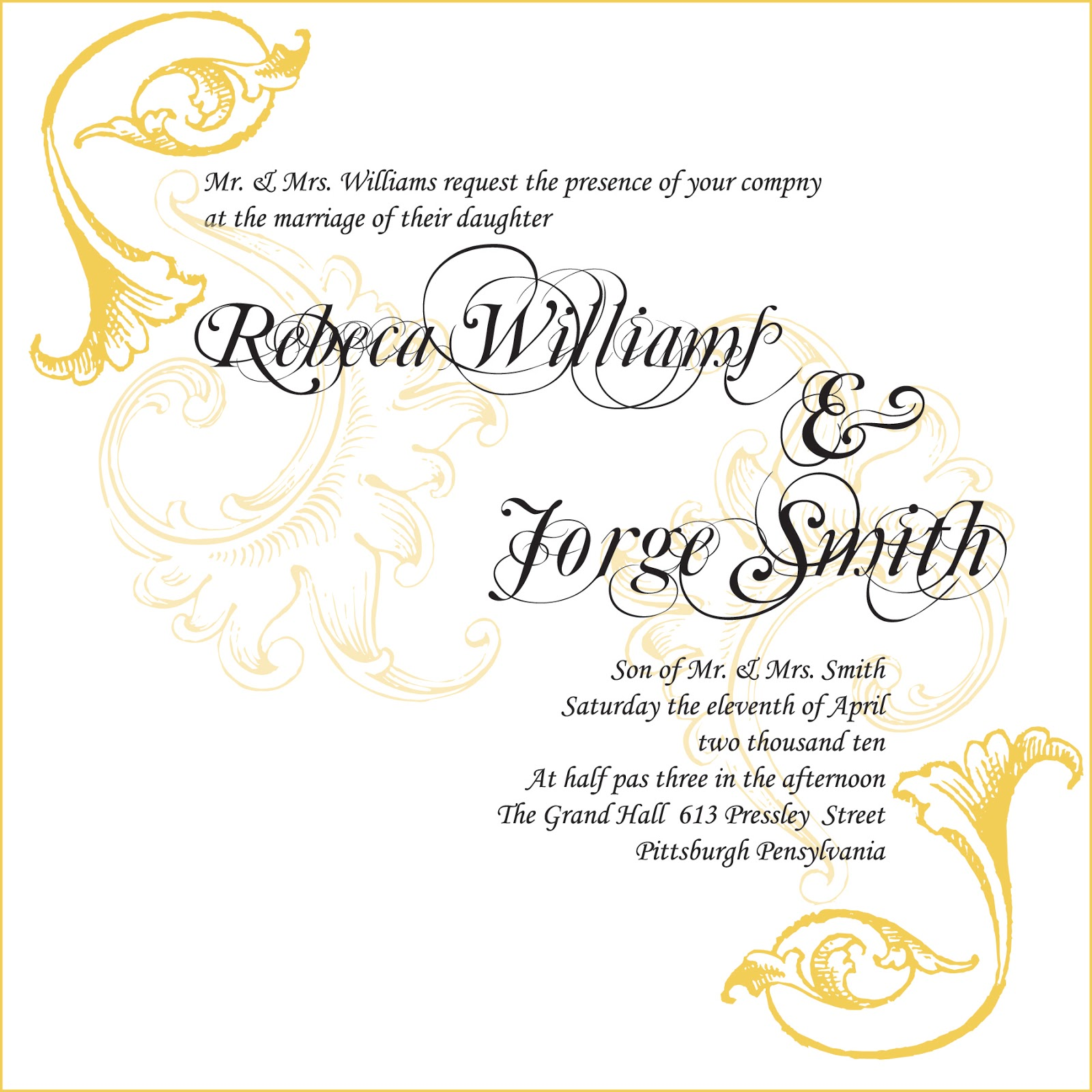 Sample Invitations For Wedding: Wedding Invitation Samples