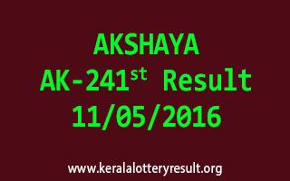 AKSHAYA AK 241 Lottery Result 11-5-2016