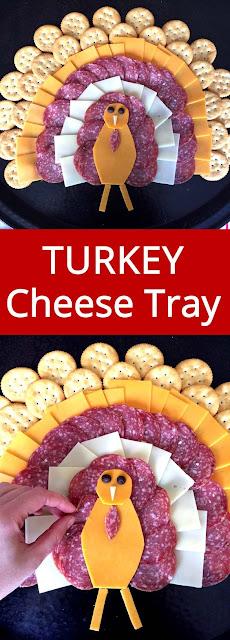 Thanksgiving Turkey-Shaped Cheese Platter Appetizer