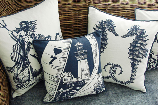 Kevin O Brien Studio S Nautical Themed Accent Pillows Will Be Shown At The Summer Whole Gift Shows Including Those In Atlanta Chicago Los Angeles And
