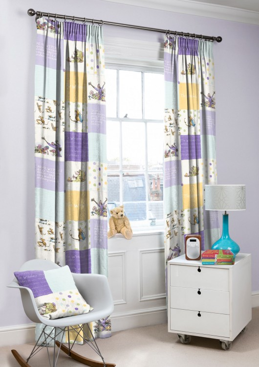 PURPLE AND YELLOW CURTAINS