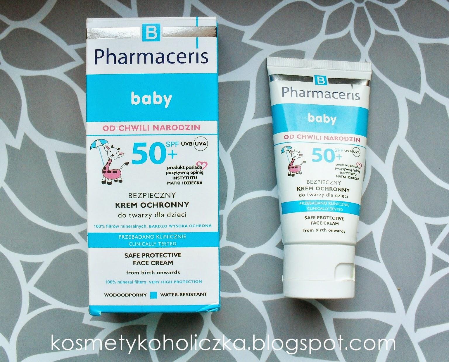 Pharmaceris B | SPF 50 + | Bezpieczny krem ochronny do twarzy dla dzieci