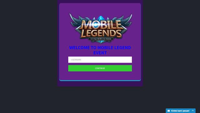 Download Script Phising ML - Mobile Legend Terbaru Work
