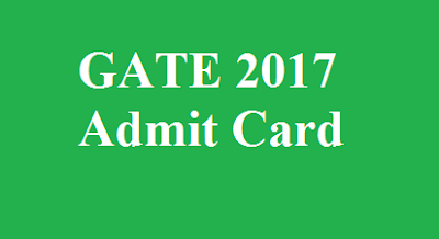 GATE Admit Card 2017