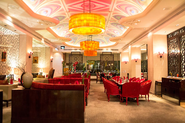 The restaurant area at Rosso Shangrila Jakarta