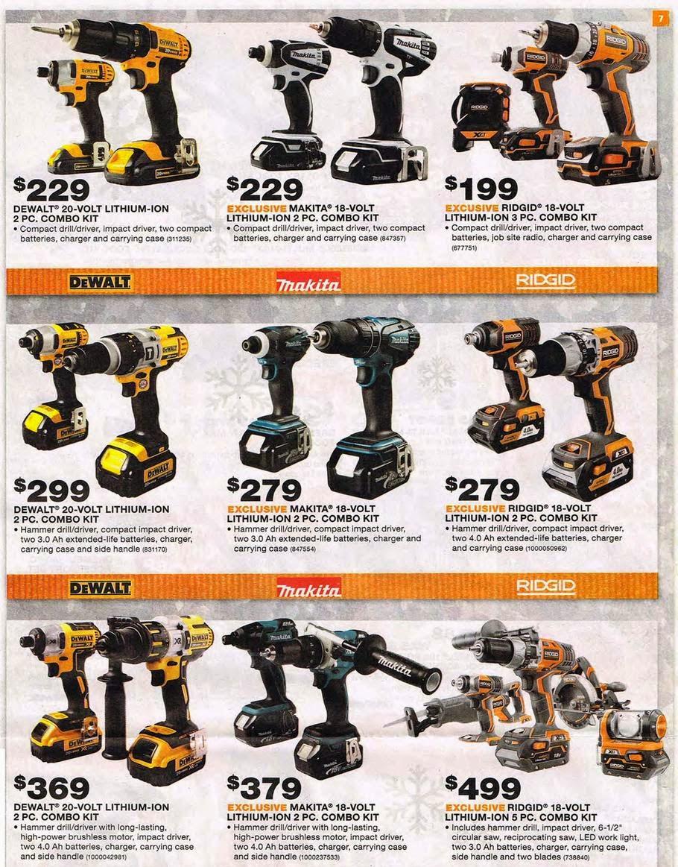 Home Depot Tools Sale