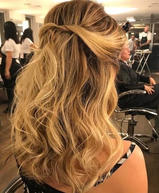penteado semi preso torcidinho