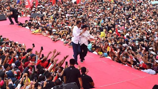 Ditanya Tips Bugar Selama Kampanye, Jokowi: Intinya Makan dan Minum