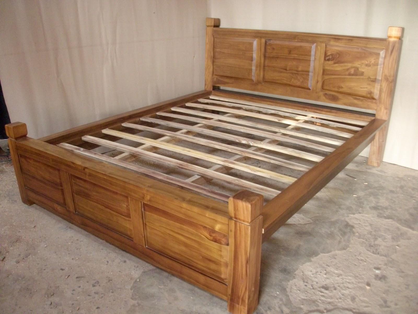 mebel jati jual tempat tidur minimalis jati