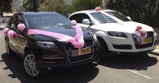 רכבים ק'יו7לימו מקושטים לחתונה