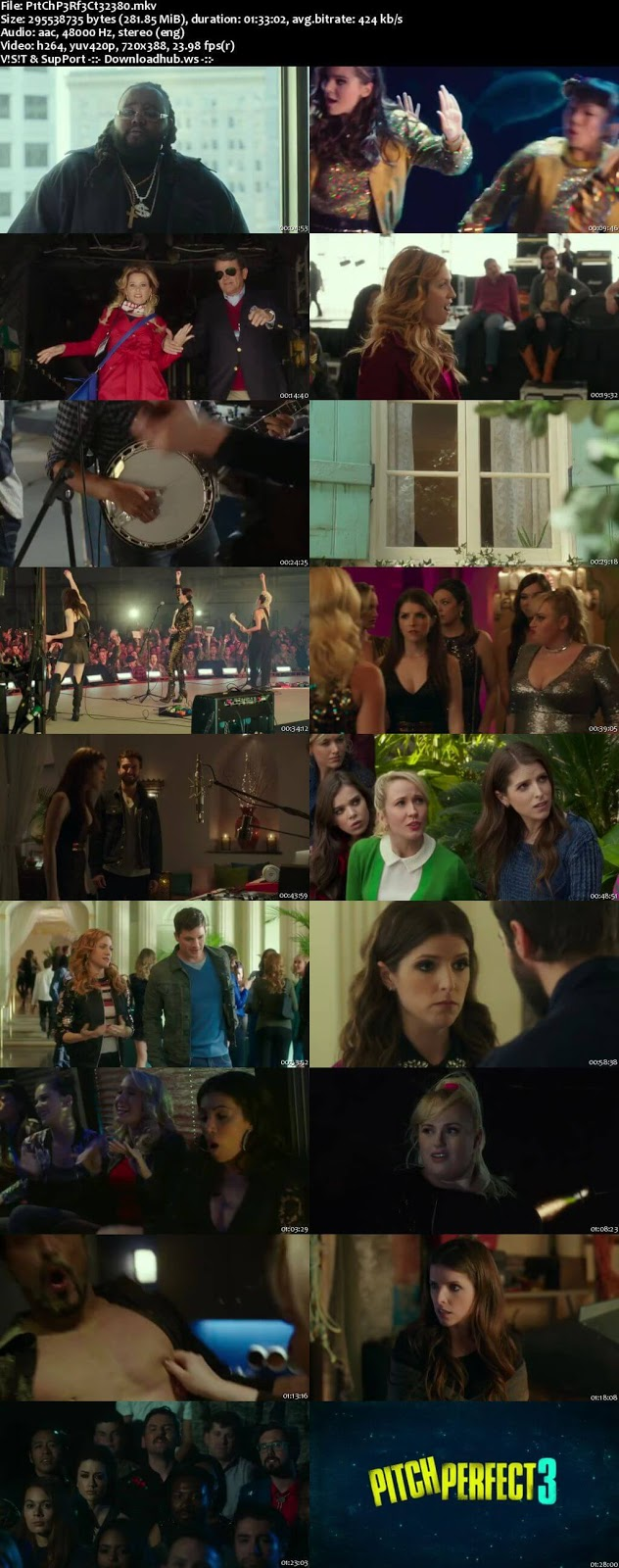 Pitch Perfect 3 2017 English 480p Web-DL