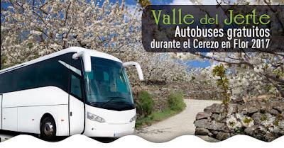 Rutas gratuitas en bus para recorrer el Valle del Jerte