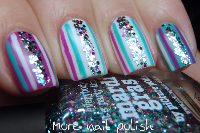 Picture Polish - Mardi Gras video tutorial nail art ~ More Nail Polish