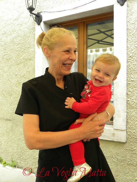 Niki con la nipotina Nefeli