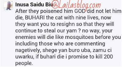 I will kill 200 people if President Buhari dies - Policeman2