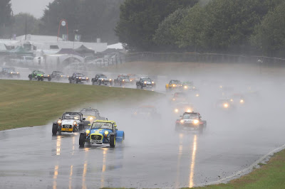 2018 Caterham Roadsport Racing at Castle Combe in monsoon conditions