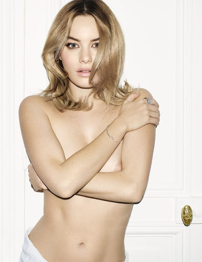 sexy model camille rowe topless photo shoot for vogue magazine spain february 2016