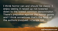 My quotes about horror