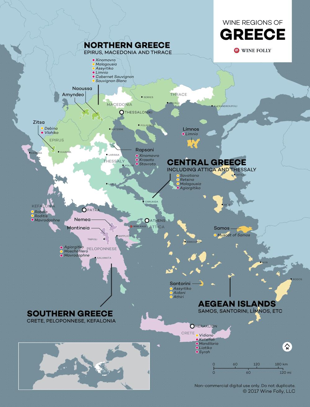 Greek wine Greece map wine folly
