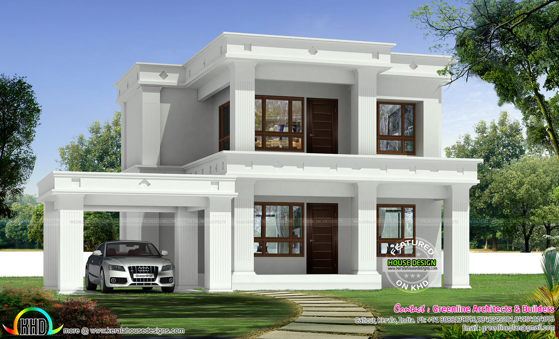 1494 Square Feet 3 Bedroom Flat Roof Home Kerala Home Design And Floor Plans