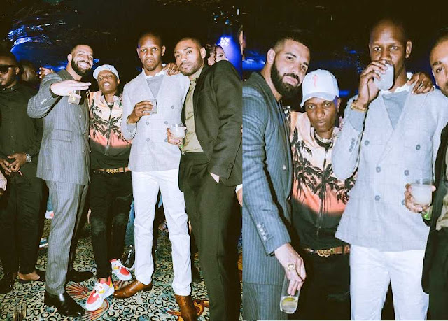 Wizkid Finally Meets Drake At Scorpion Listening Party