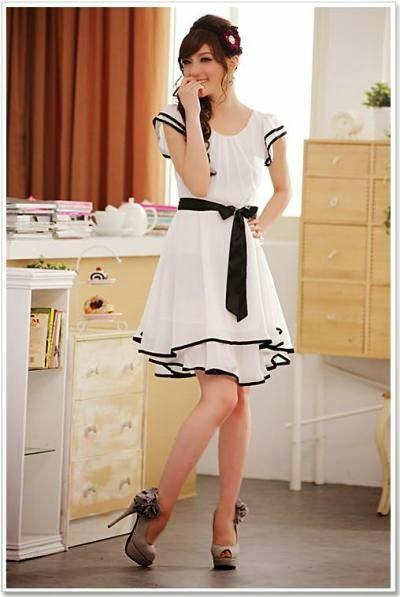 gambar model baju dress korea
