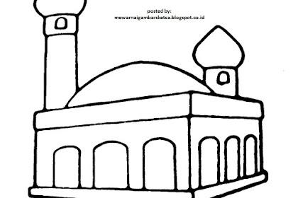 Mewarnai Gambar Masjid Untuk Paud