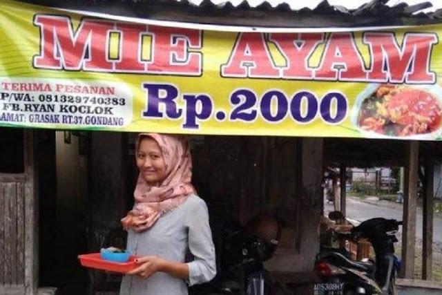 Jangan Menghujat, Apalagi Menuduh! Ini Alasan Wanita Sragen Jual Mie Ayam Cuma Rp 2.000