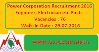 Power Corporation Recruitment 2016