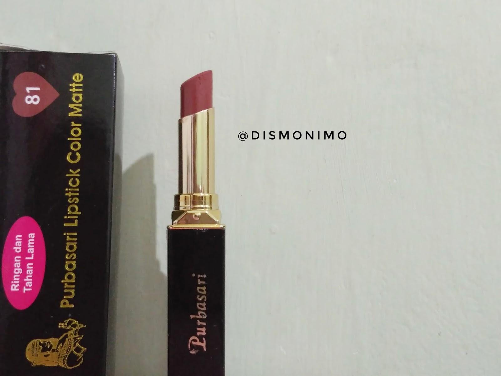Review Purbasari Lipstick Color Matte Nomor 81 Lipstik Collor Box Berwarna Hitam Di Tertera Keterangan Dan Warna Netto 4 Gram Tanggal Kadaluarsa