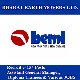 Bharat Earth Movers Limited, BEML, Karnataka, Manager, Trainee, Graduation, freejobalert, Sarkari Naukri, Latest Jobs, beml logo