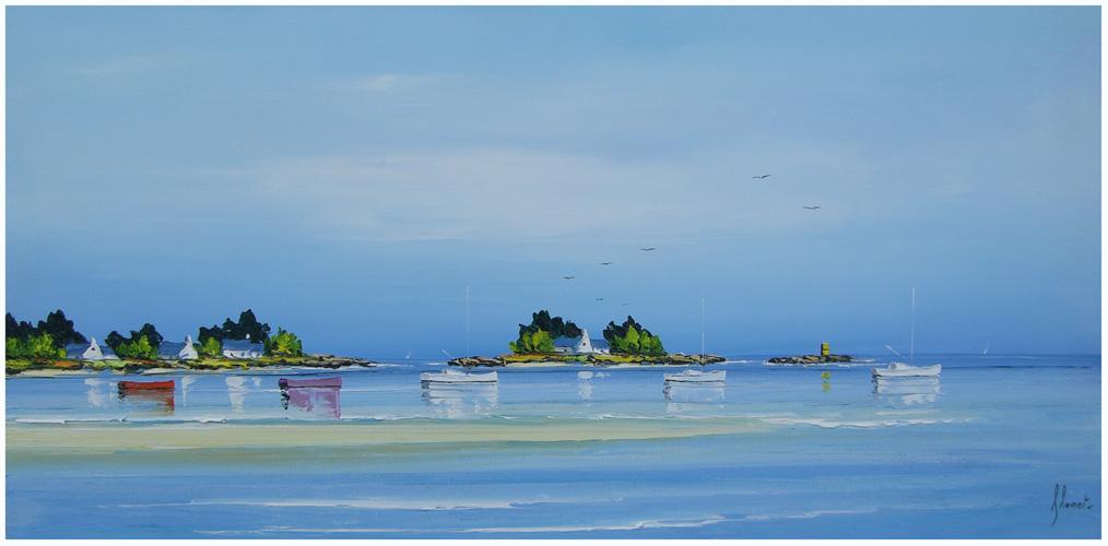 Banco de Areia - Frédéric Flanet e suas belas pinturas com paisagem de praias