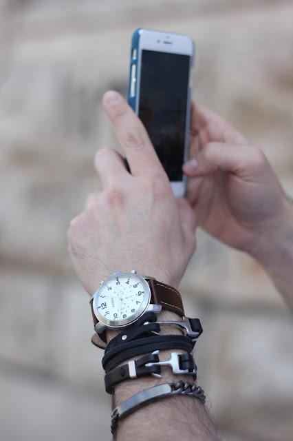 fossil braccialetto ancora