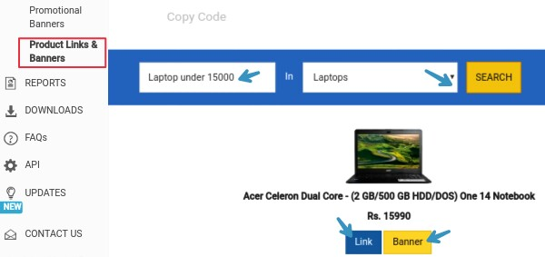 generate-flipkart-product-banners-and-links