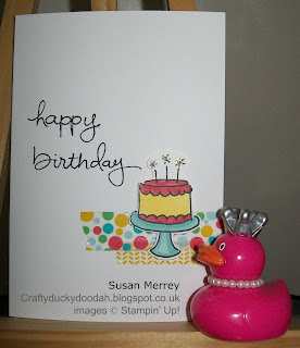 Stampin' Up! Made by Susan Merrey Independent Stampin' Up! Demonstrator, Craftyduckydoodah!, Endless Birthday Wishes, Pictogram Punches, July 2015,