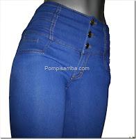 Jeans de mezclilla 2016 2017 pompis arriba jeans 2017
