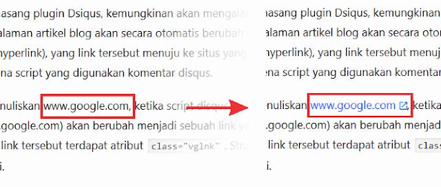 Tulisan teks url menjadi link aktif