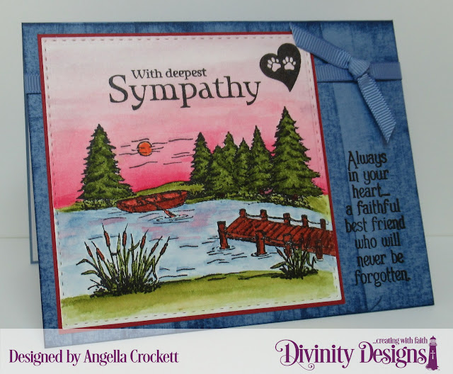 Divinity Designs With Deepest Sympathy and Dog Sympathy, Double Stitched Squares Dies, Card Designer Angie Crockett