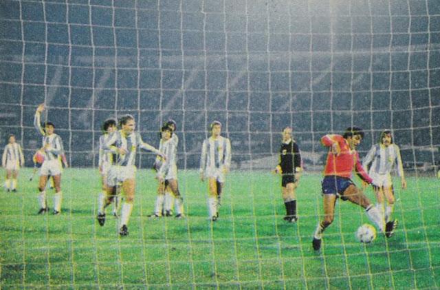 Chile y Argentina en partido amistoso, 12 de mayo de 1983