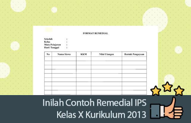 Contoh Remedial IPS Kelas X Kurikulum 2013
