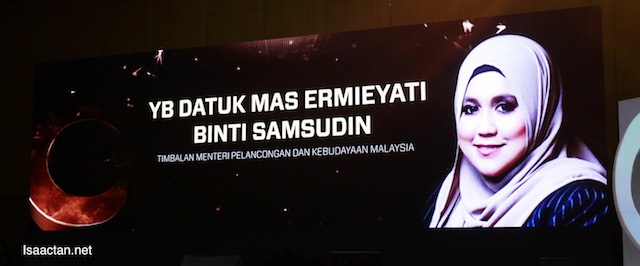 launched by Y.B. Datuk Mas Ermieyati Binti Samsudin, Deputy Minister of Tourism and Culture