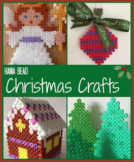 Hama bead Christmas crafts for children round up